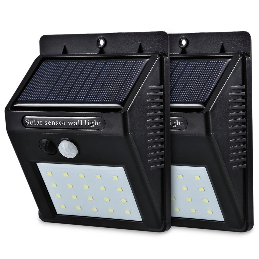 25 LED Solar Powered PIR Motion Sensor Light Outdoor Garden Security Wall Lights