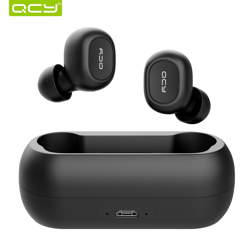 2018 Qcy T1c Mini Bluetooth Earphones With Mic Wireless Sports Headphones Noise Cancelling Headset And Charging Box Sunmoney